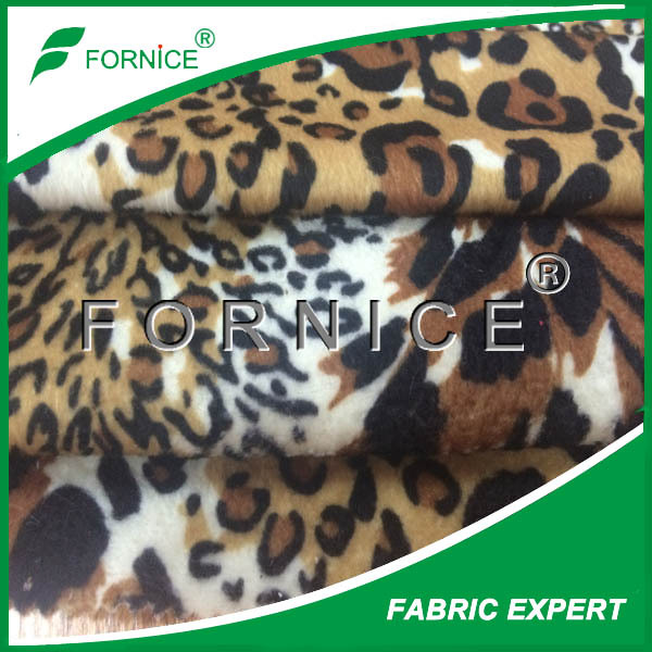 Top quality Animal Print Faux Fur Fabric