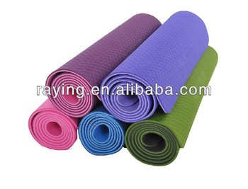 TPE yoga mat, colorful yoga mat