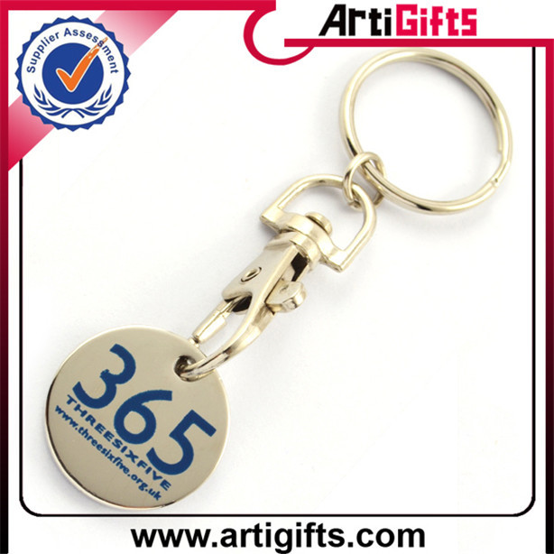 Hottest promotional euro trolley coin keyrings