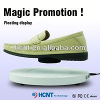 new invention ! magnetic levitating led display stand for shoe woman,sports shoes no heel