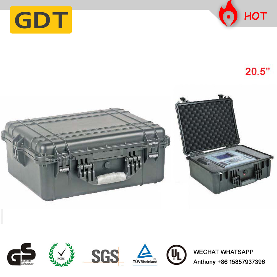 Hard plastic case waterproof IP67 tool case trolley case with wheels