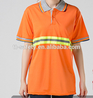 2017 hot new products 100% polyester high reflection safety t shirts