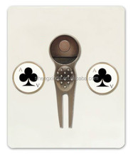 2016 hot sailing creative clubs golf divot tool with ball marker for golf equipment