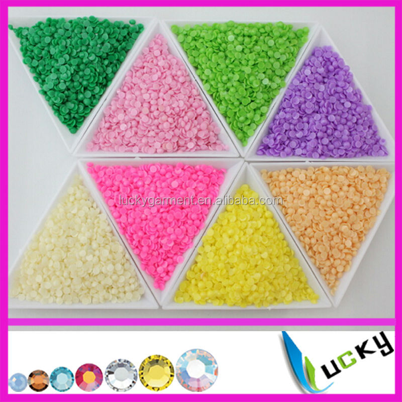 2014 New cheapest flatback resin rhinestones non hotfix epoxy beads for nail art phone decorations