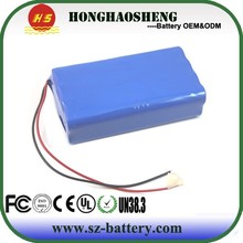 High rate discharge lithium ion 60v 2.2ah battery pack for one wheel electric scooter