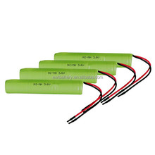ni-mh 3.6v 2/3aa 600mah rechargeable battery pack nimh for led light