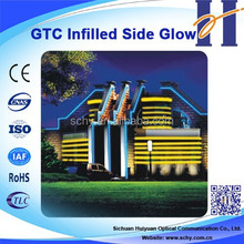 Infilled Side Glow Cable Plastic optic fiber cable
