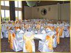 satin chair cover and sash for wedding and banquet