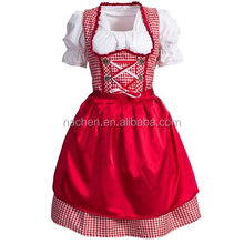 Nachen Women's 3 Pcs Dirndl Serving Wench Bavarian Beer Girl Oktoberfest Adult Costume