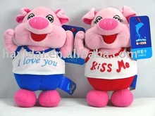 Plush lovely couple pigs/ Cute pink pig gift toys(CE)