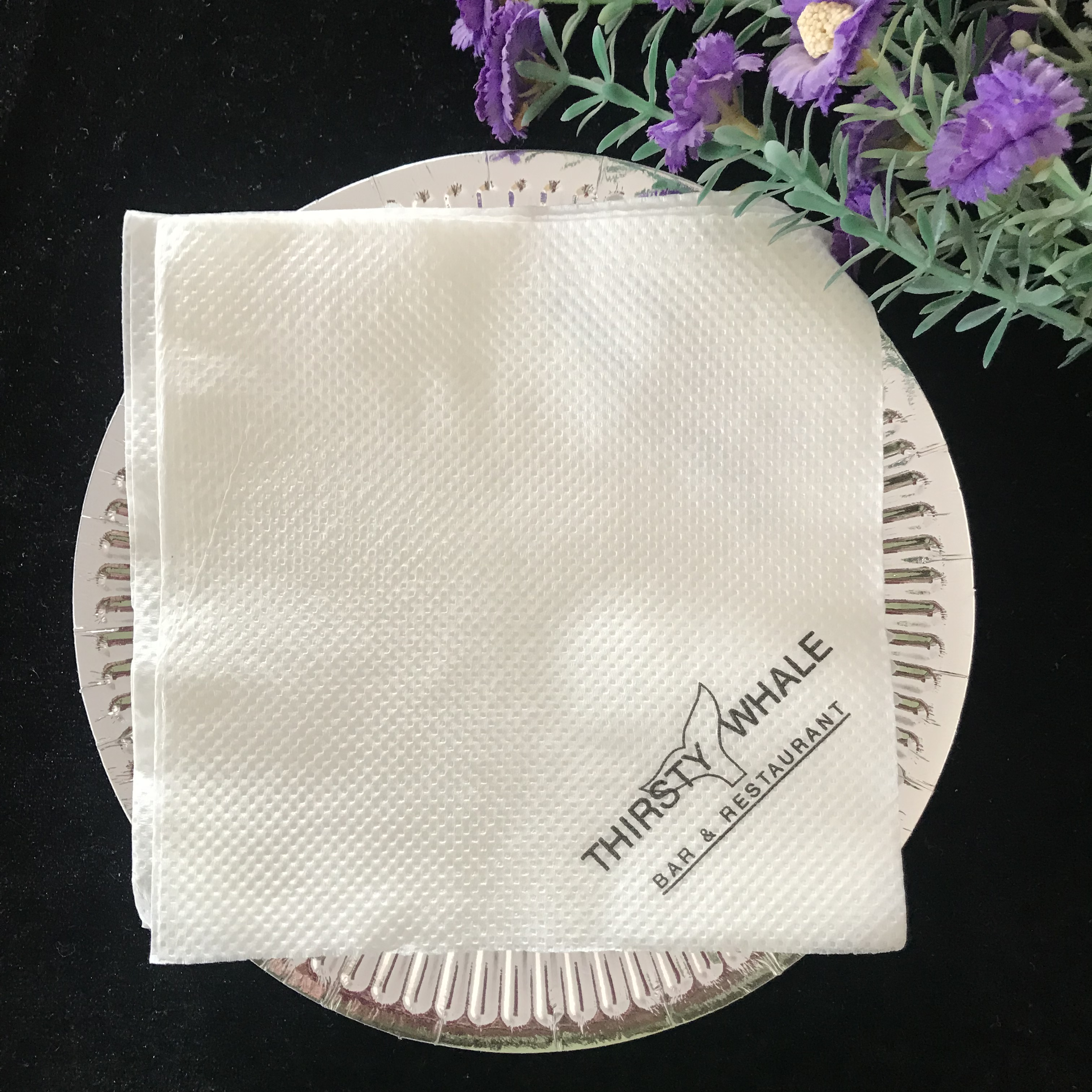 Cheap recycled  napkins with logo 30cm*30cm 1ply  Disposable Paper Party Supplies - Soft, Decorative Napkins for Lunch
