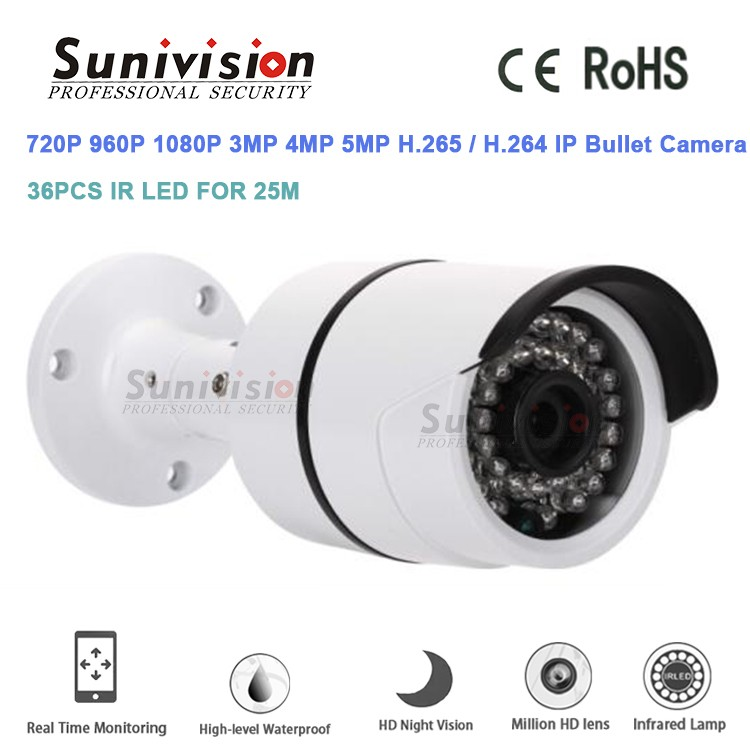 OEM ODM best price security camera system H.264 H.265 1.3Megapixel 960p H81 white 3.6mm 36pcs LEDs ip bullet camera