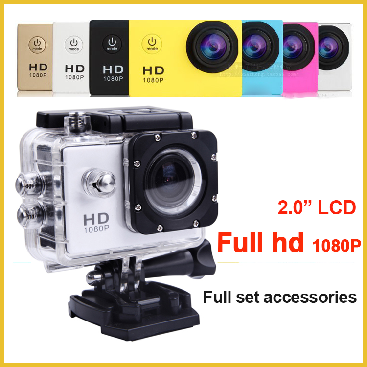 2016 New 2.0 inch go pro style <strong>camera</strong> diving action <strong>camera</strong> full hd 1080p sports action <strong>camera</strong> with 30M waterproof