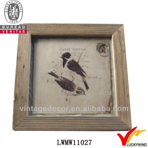 hot selling quality shabby robin home decoration wood