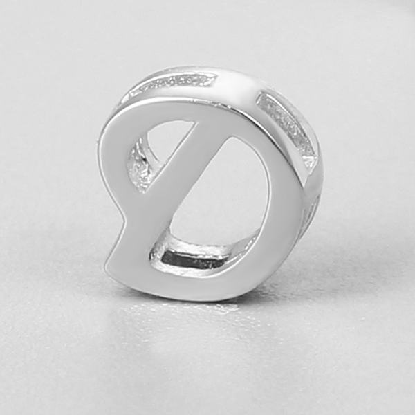 Hollow letter D pendant silver 925 alphabet charms for jewelry making