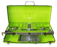 Wholesale Price Cooktops, Good Quality Camping Gas Stove, Two burner with grill Gas Stove