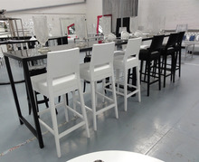 High class hotel used wedding stainless steel high bar tables and chair set XY0729