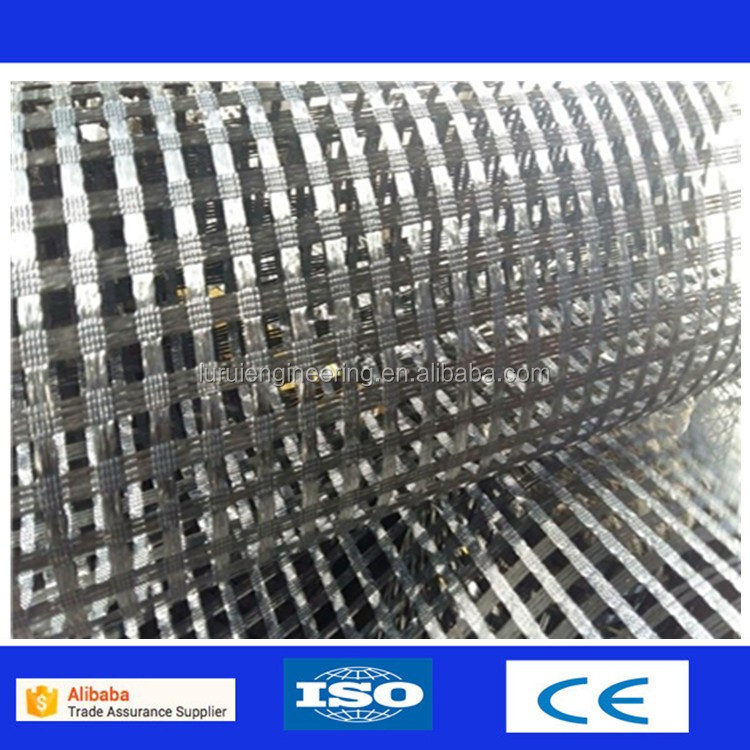 Warp knitted polyester PET geogrid lowes window grids