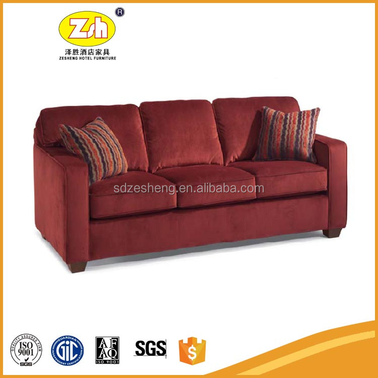 Foshan wooden hotel livining room furniture sofa set ZH-SF01