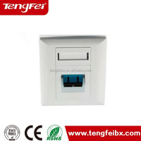 SC fiber optic face plate ABS/PC plastic network faceplate