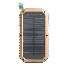 Waterproof 10000mAh 3 USB portable solar power bank battery charger with 51LED Flashlight