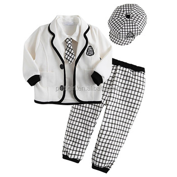 Hot Sale white grey Children Boy Prince Wear Clothing Suits
