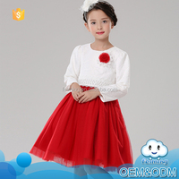 2016 Fall latest items girls party wear dress wedding dress bridal gown feiming kids clothes frocks