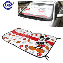 custom made personalised fun magnetic collapsible roll up cardboard sun shades cover for cars