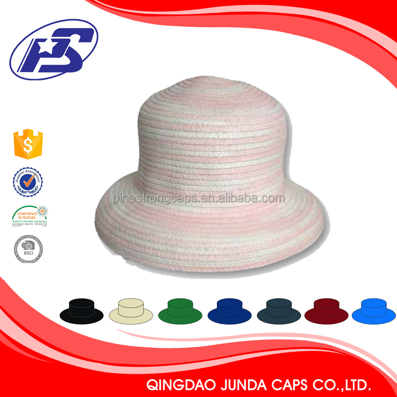 Super quality handmade bamboo folding fan hats