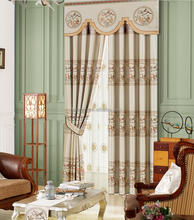 European Style Home Textile Chenille Window Curtain And Drapes