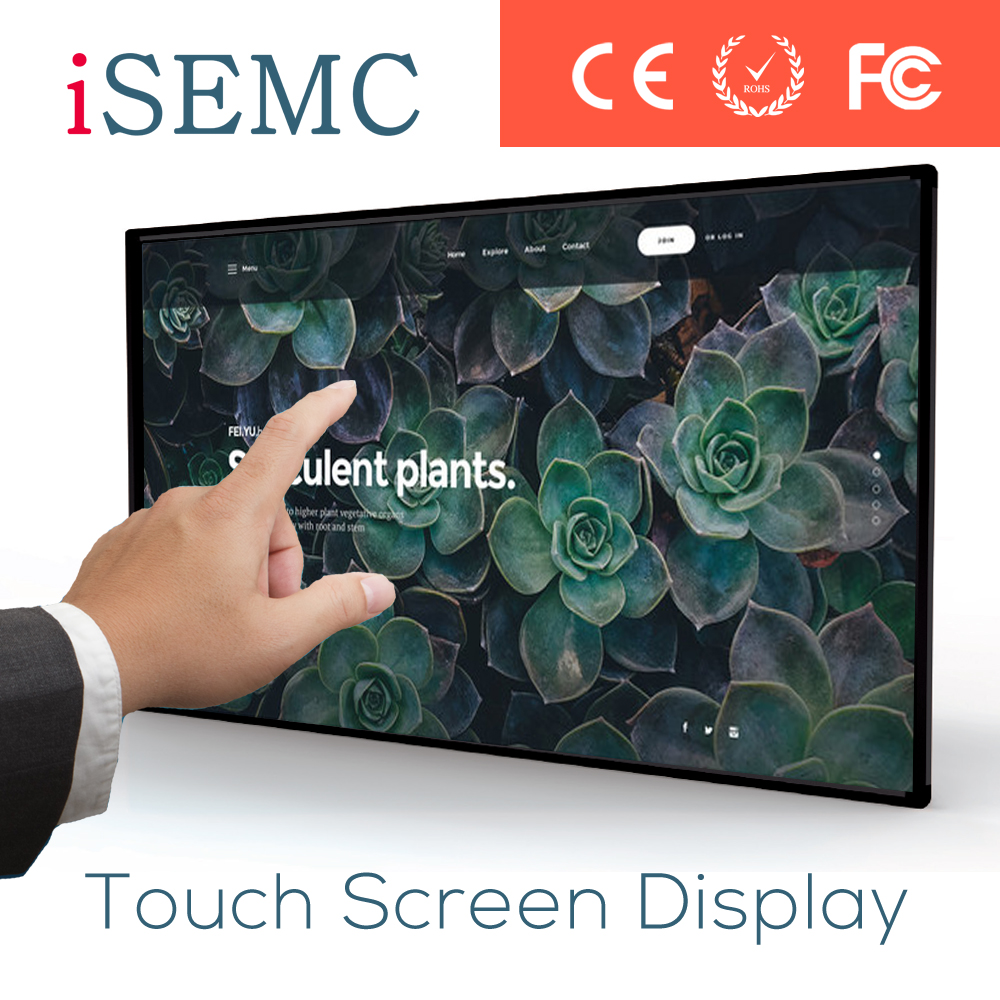 Best seller classroom lcd interactive touch screen smart board tv VGA/HDMI/DVI ce/rohs/fcc/ul certificate