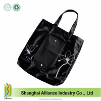 Polyester Promotion Cheap Eco Waterproof Shopping Folding Tote Bag