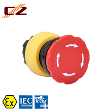 IECEx and ATEX certified Plastic Explosion-proof P6 Twisted Pushbutton Switch
