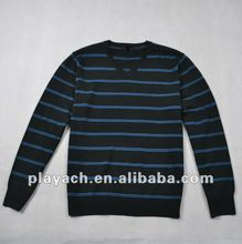 2012 Men's casual pullover, stripe sweater