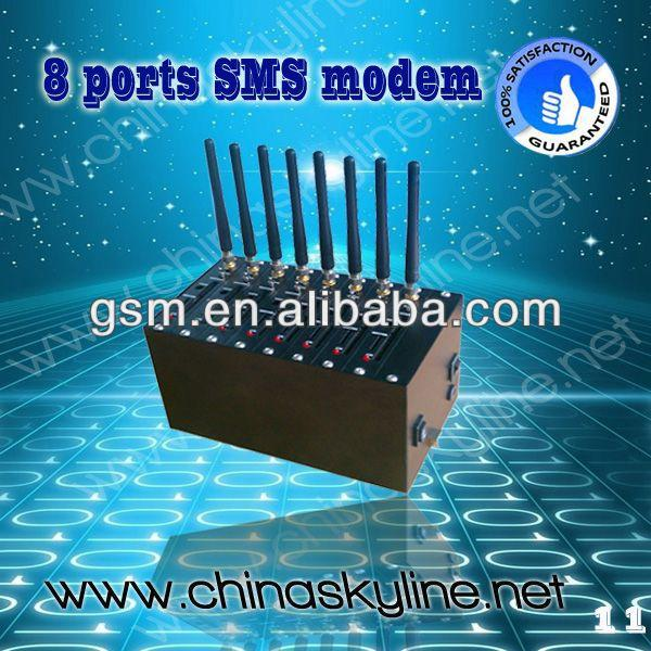 Hot sale ! 8 ports bulk SMS GSM modem for sending bulk sms ,wireless card adapter for sim card
