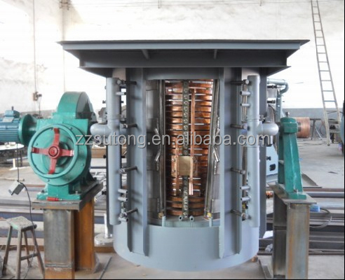 China supplier 1ton volume steel melting furnace with KGPS power
