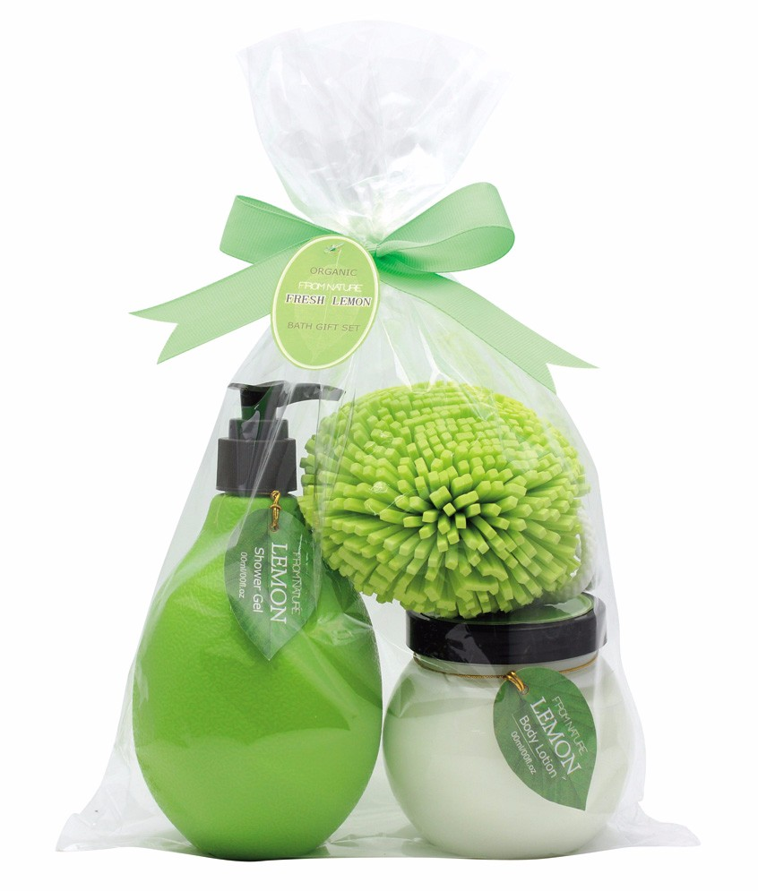 Witty Design Toiletry Bath Gift Set with shower gel and body lotion home necessary