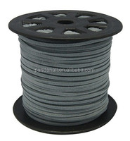 3mm Jewelry Making Supplies Stringing Materials Grey Faux Suede Cord