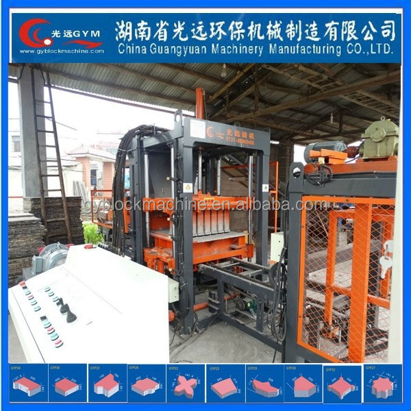 Precast Concrete Hollow Core Slab hydraulic automatic concrete block making machine