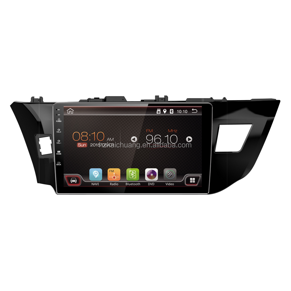 Car Audio Built-in GPS with Colorful LED and Rear Camera Input for Route Navigation