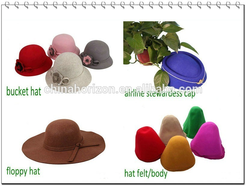 Chinamade floppy hat 100% wool felt hat for women accessories sun beach hat