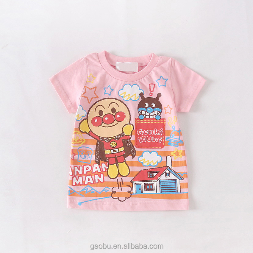 Japanese Anime Anpanman Bread Man Toddler Baby boy girl short sleeve t shirt