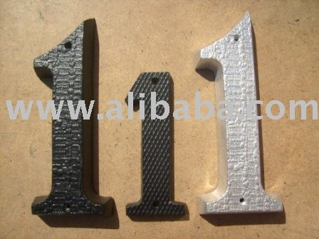 Aluminum numbers and Letters