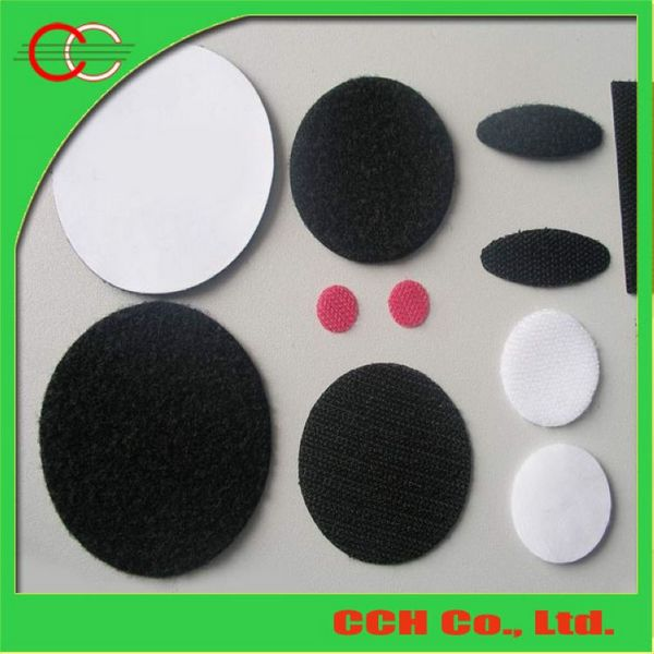 CCH Hook and Loop Coins Dots with adhesive backing