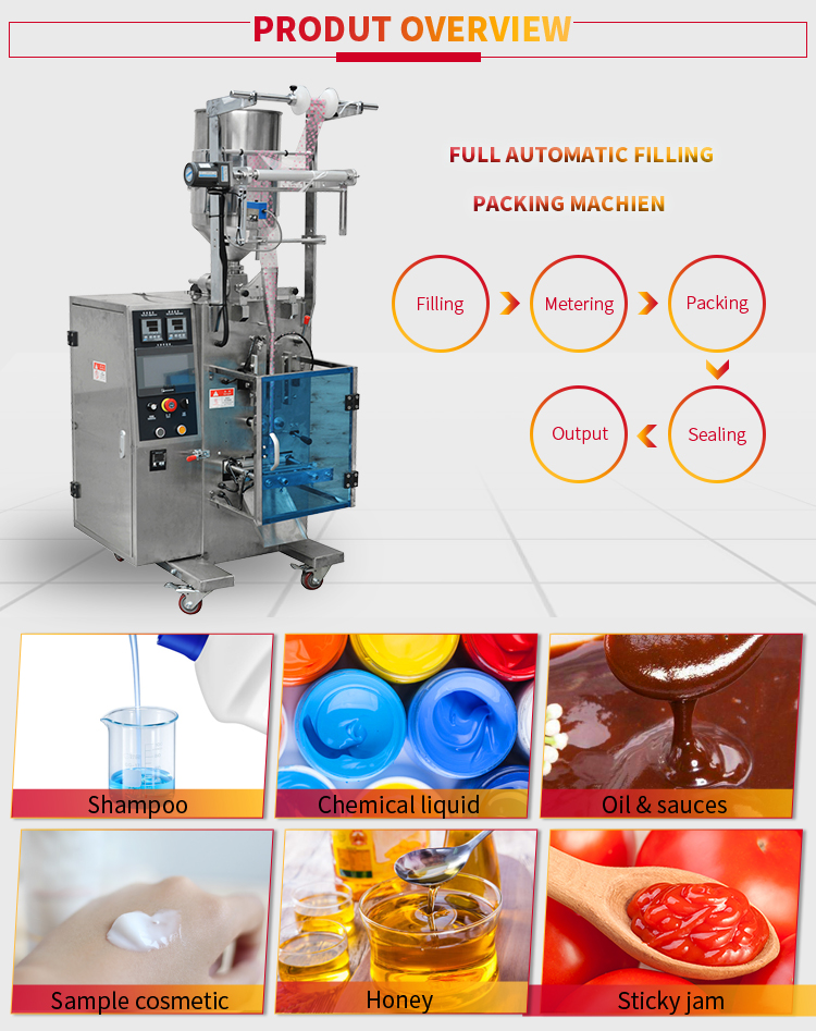 Automatic liquid stick pack packing machine for honey/sauce/ketchup