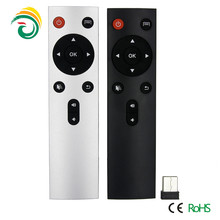 Black & wihte 2.4g 3d universal tv remote control, air mouse with keyboard