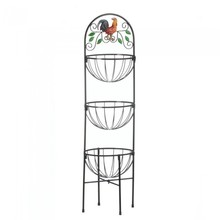 rooster 3-tier disply kitchen basket for home use