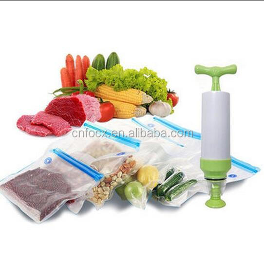 High quality Food Vacuum Bags / resealable vacuum food bags with pump / Sealing Storage Bags