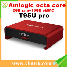 New T95U Pro Amlogic S912 Android6.0 TV BOX 2GB/16GB otca Core Gigabit LAN 2.4G+5G WiFi BT4.0 H.265 KODI 16.1 Full Loaded