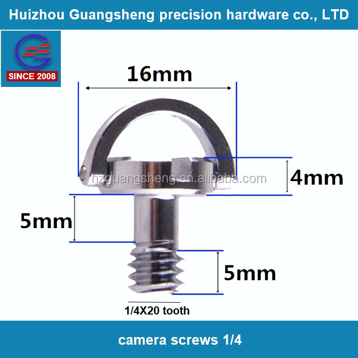Wholesale camera screw 1/4 d ring stainless steel screws in china